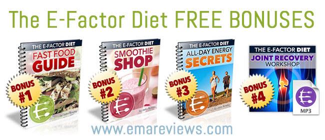 e-factor diet review discount bonuses